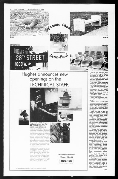 Daily Trojan, Vol. 60, No. 70, February 13, 1969