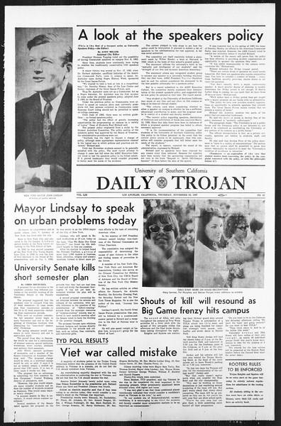 Daily Trojan, Vol. 59, No. 42, November 16, 1967