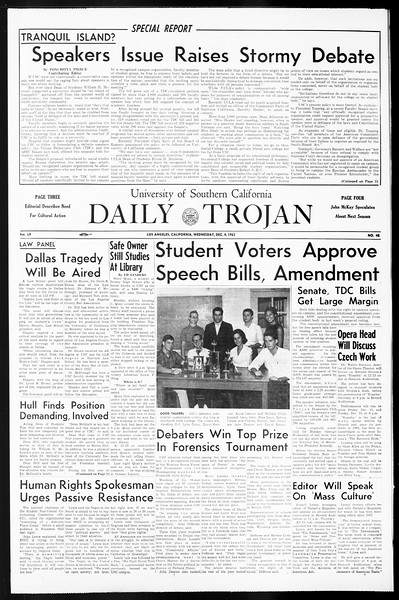 Daily Trojan, Vol. 55, No. 48, December 04, 1963