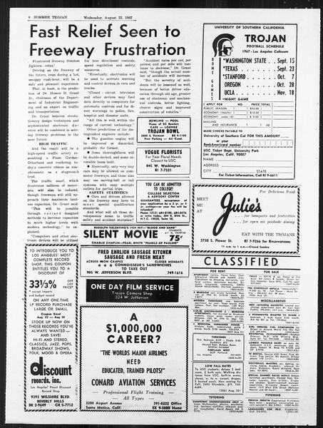Summer Trojan, Vol. 18, No. 14, August 23, 1967