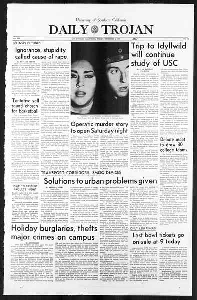 Daily Trojan, Vol. 59, No. 49, December 01, 1967