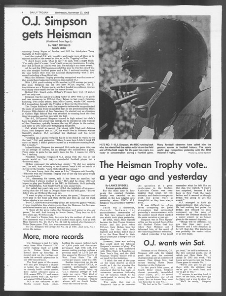 Daily Trojan, Vol. 60, No. 48, November 27, 1968