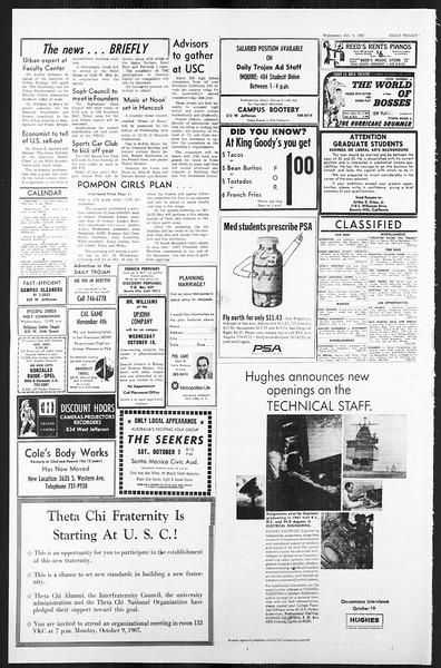 Daily Trojan, Vol. 59, No. 13, October 04, 1967