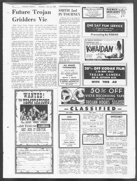 Summer Trojan, Vol. 19, No. 10, July 23, 1968