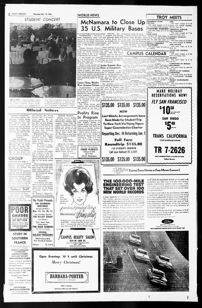 Daily Trojan, Vol. 55, No. 54, December 12, 1963