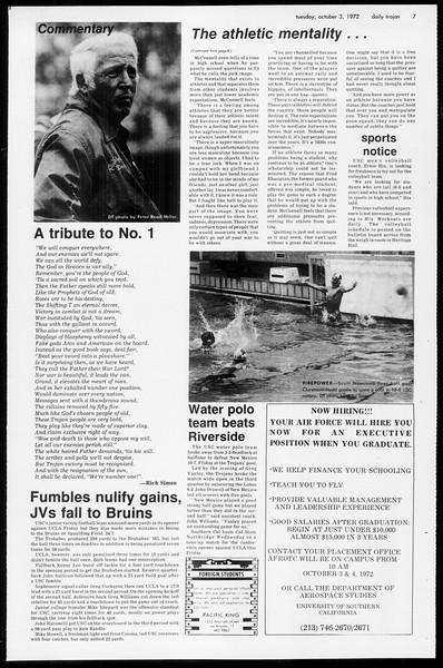 Daily Trojan, Vol. 65, No. 12, October 03, 1972