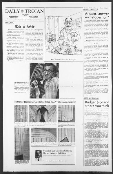 Daily Trojan, Vol. 58, No. 19, October 13, 1966