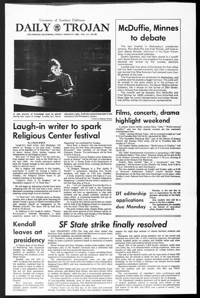 Daily Trojan, Vol. 60, No. 95, March 21, 1969
