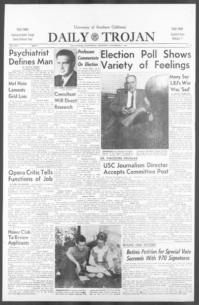 Daily Trojan, Vol. 56, No. 34, November 05, 1964