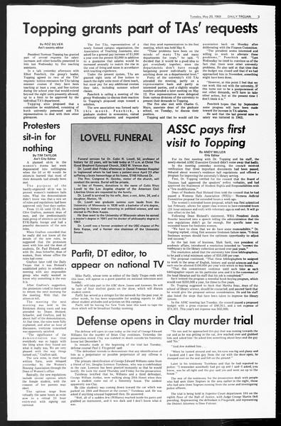 Daily Trojan, Vol. 60, No. 121, May 20, 1969