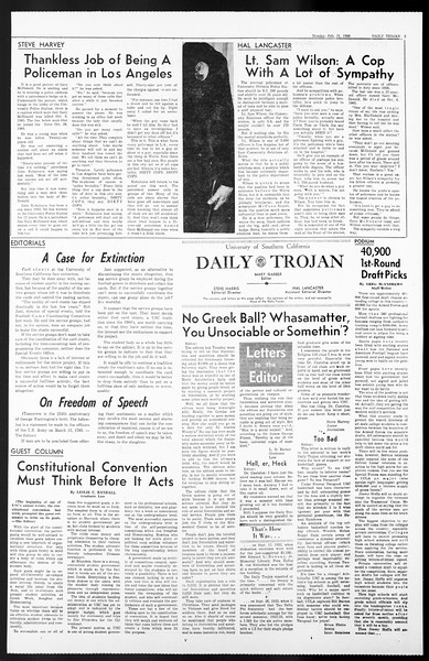 Daily Trojan, Vol. 57, No. 72, February 21, 1966