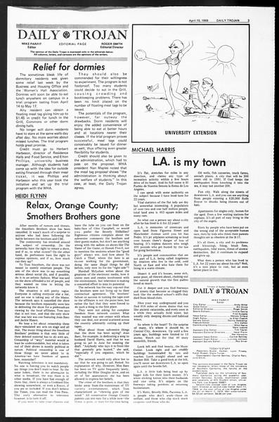 Daily Trojan, Vol. 60, No. 102, April 10, 1969