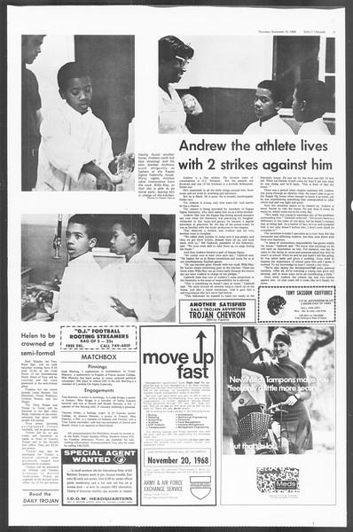 Daily Trojan, Vol. 60, No. 39, November 14, 1968