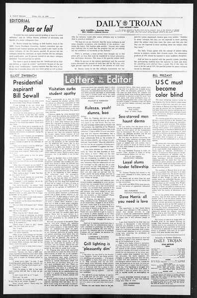 Daily Trojan, Vol. 59, No. 72, February 16, 1968
