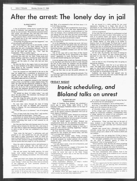 Daily Trojan, Vol. 60, No. 23, October 21, 1968