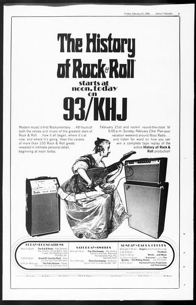 Daily Trojan, Vol. 60, No. 75, February 21, 1969