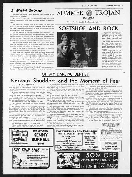 Summer Trojan, Vol. 18, No. 10, July 25, 1967