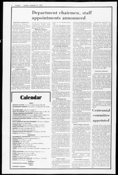 Daily Trojan, Vol. 65, No. 44, November 21, 1972