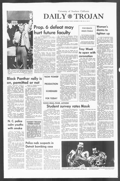 Daily Trojan, Vol. 60, No. 37, November 12, 1968
