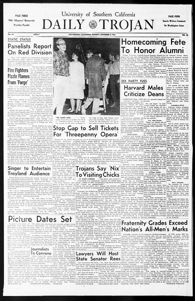 Daily Trojan, Vol. 55, No. 30, November 04, 1963