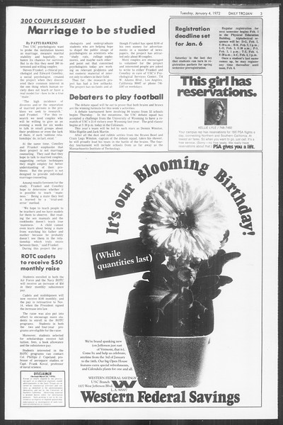 Daily Trojan, Vol. 64, No. 56, January 04, 1972