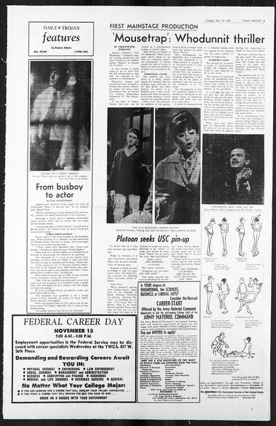 Daily Trojan, Vol. 59, No. 40, November 14, 1967