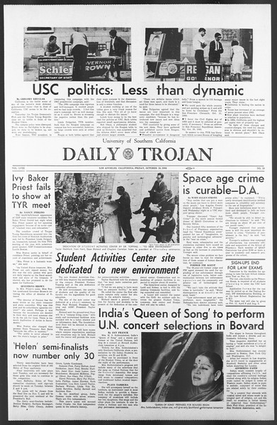 Daily Trojan, Vol. 58, No. 29, October 28, 1966