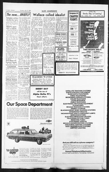 Daily Trojan, Vol. 59, No. 107, April 18, 1968