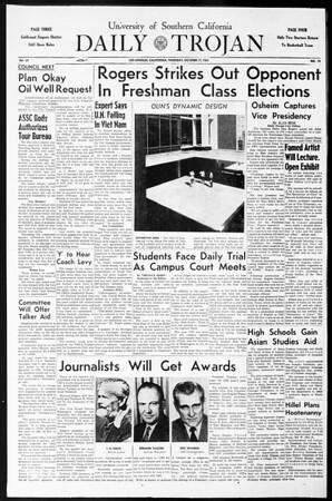 Daily Trojan, Vol. 55, No. 19, October 17, 1963