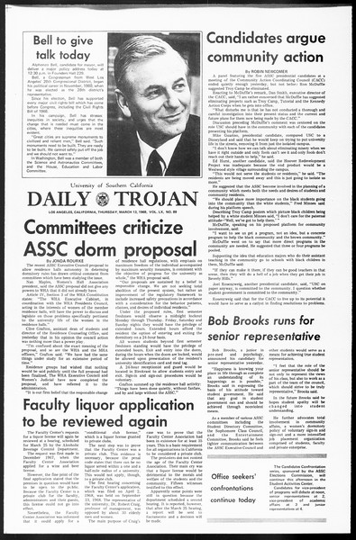 Daily Trojan, Vol. 60, No. 89, March 13, 1969