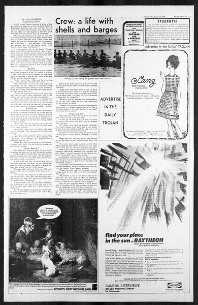 Daily Trojan, Vol. 59, No. 89, March 13, 1968