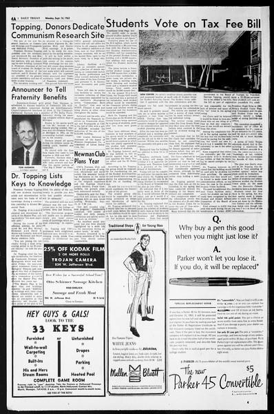 Daily Trojan, Vol. 55, No. 1, September 16, 1963