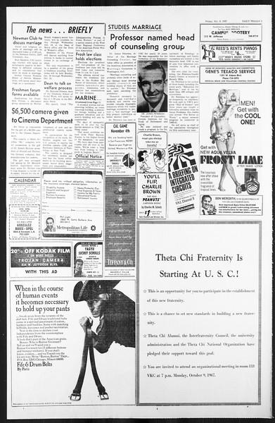 Daily Trojan, Vol. 59, No. 16, October 09, 1967