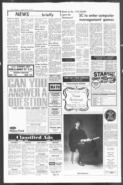 Daily Trojan, Vol. 60, No. 28, October 29, 1968