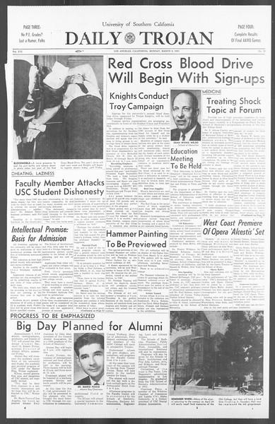 Daily Trojan, Vol. 56, No. 78, March 08, 1965