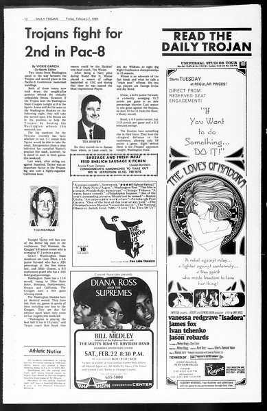 Daily Trojan, Vol. 60, No. 66, February 07, 1969