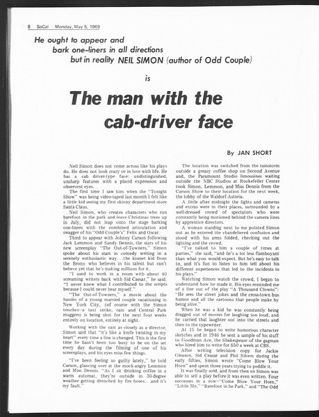 SoCal, Vol. 60, No. 116, May 05, 1969