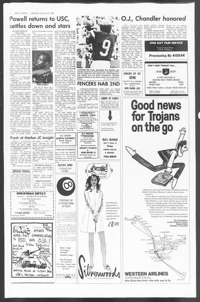 Daily Trojan, Vol. 60, No. 54, December 11, 1968