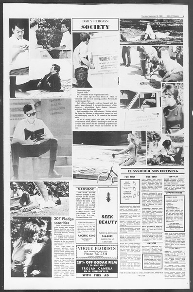 Daily Trojan, Vol. 60, No. 4, September 19, 1968