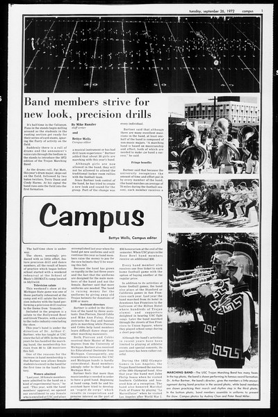 Daily Trojan, Vol. 65, No. 7, September 26, 1972