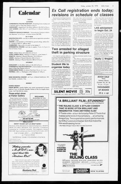 Daily Trojan, Vol. 65, No. 23, October 20, 1972