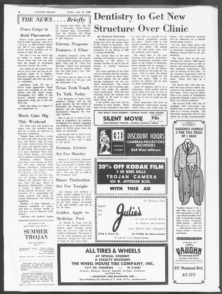 Summer Trojan, Vol. 19, No. 9, July 19, 1968