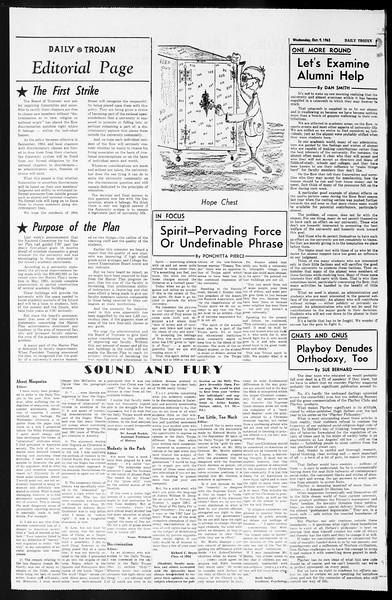 Daily Trojan, Vol. 55, No. 13, October 09, 1963