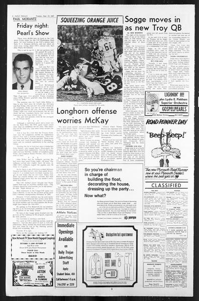 Daily Trojan, Vol. 59, No. 2, September 19, 1967