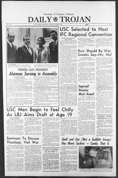 Daily Trojan, Vol. 58, No. 84, March 07, 1967