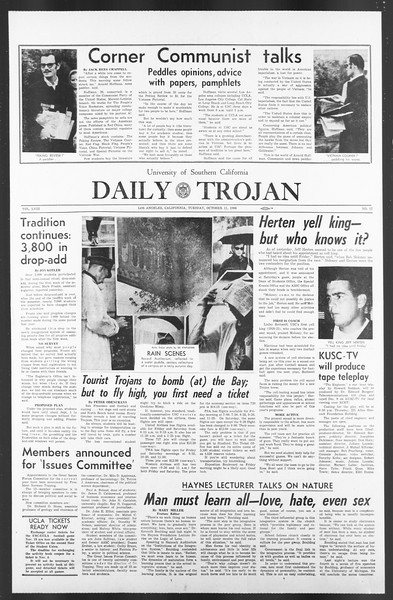 Daily Trojan, Vol. 58, No. 17, October 11, 1966