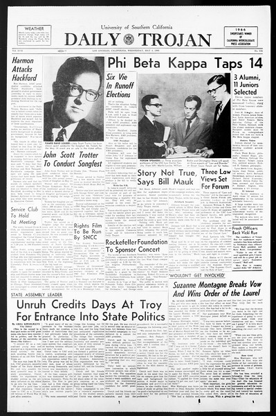 Daily Trojan, Vol. 57, No. 114, May 04, 1966
