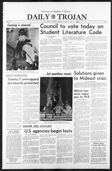 Daily Trojan, Vol. 59, No. 40, November 14, 1967