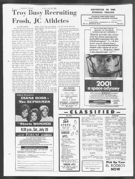 Summer Trojan, Vol. 19, No. 4, June 28, 1968
