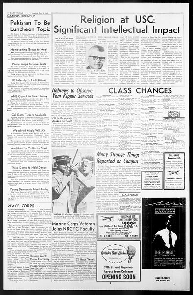 Daily Trojan, Vol. 57, No. 12, October 05, 1965